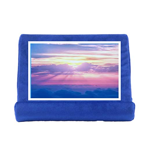 Multi Angle Soft Tablet Pillow Stand for iPad,Tablet Stand Pillow Holder, Pillow Pad Reading Stand, Multi-Angle Soft Pillow Lap Stand (First-Generation Netball Blue)