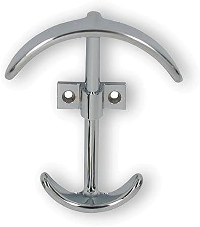 Design Modern Edelstahl fein geschliffen 2259//N1 SIRO Kleiderhaken Fritzlar LA 32 mm 101 mm x 39 mm x 77 mm