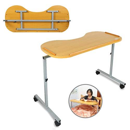 Überbetttisch, höhenverstellbarer häuslicher Pflegetisch, Nachttisch auf dem Schlafsofa, Laptop-Tischoberfläche zur Verwendung mit Stühlen und Betten in Krankenhäusern und zu Hause