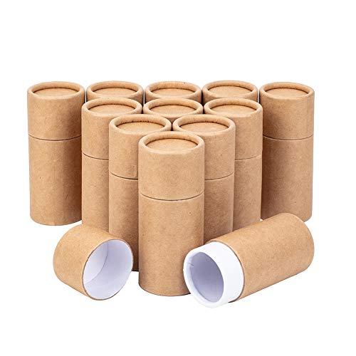 BENECREAT 12PCS 30ml Tubos de Cartón Kraft Contenedores Redondos de Papel Kraft para...