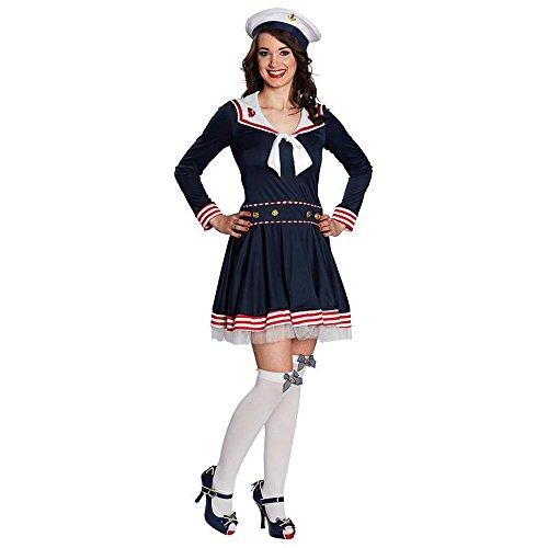 Kostüm Matrosin Madeleine Kleid blau Seefahrerin Karneval Marine Navy (40)