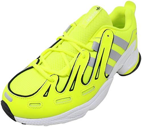adidas Originals EQT Gazelle Fashion Sneaker Shoes (Solar Yellow/Silver Metallic/Core Black, 10)