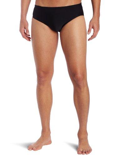 TYR Sport Men's Solid Racer Swim Suit (Black, 34)