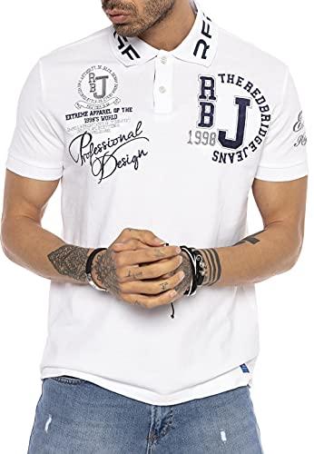 T-Shirt für Herren Polo-Shirt Bestickt Baumwolle Weiß 5XL