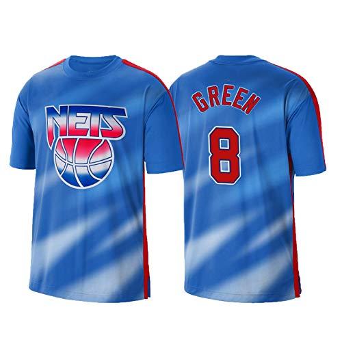 USSU Camisetas de Camiseta de Baloncesto para Hombres Grěěn Uniforme de Baloncesto Něts 8# Fan de Baloncesto Jersey Jersey Top Top Top Commemorative Jersey, Anti-Color, XXL