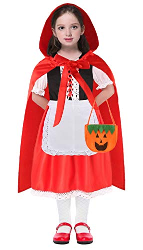 Little Red Riding Hood Costume Girls Toddler Halloween Costumes Kids Toddler Cape 3T 4 4T 5 6 7 8 9 10 12