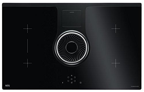 AEG IDE84242IB inductie kookplaat 83 cm met afzuigkap Combo Hob Easy alleen uitlaatsysteem H = 60 B = 830 T = 510 mm