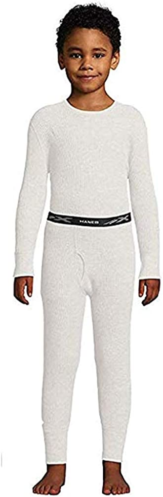 Hanes - Boy's X-Temp Ultimate Thermal Underwear Set, Natural 41148-X-Small