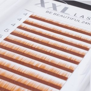 Cils droits sans courbe pour sourcils, reconstruction et extensions pour sourcils, 1 boîte de 12 rangées de longueurs différentes pour épaissir et allonger les sourcils, faux sourcils, Color blond