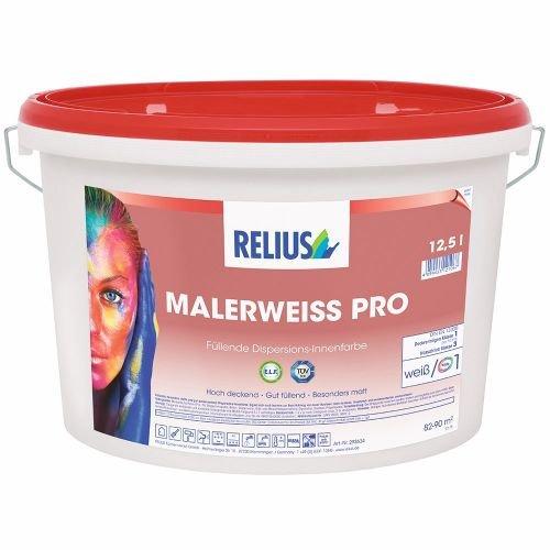 Relius Malerweiß PRO Größe 12,5 LTR, Farbe weiß/Basis 1