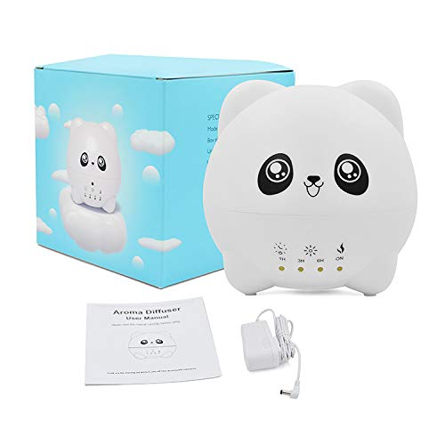 Greatatop Panda Aromatherapy Essential Oil Diffuser-Personal Ultrasonic Cool Mist Humidifier for Bedroom,Home,Office-Air Scent Aroma Diffusers for Birthday Gift 300ml