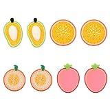 EXCEART 8Pcs Bébé Éponge de Bain Dessin Animé Fruits Bébé Douche Mousse Douce Brosse à Récurer Serviette de Frottement pour Enfant en Bas Âge Nouveau-Né