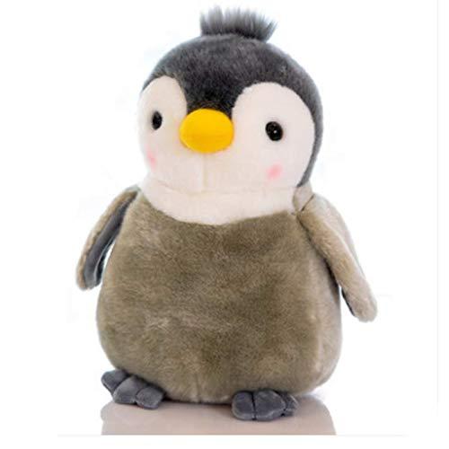 blue whale 0009 Peluche poupée Pingouin, Petite poupée Pingouin, Cadeau de Noël pour Enfant 30 cm de Haut Gris