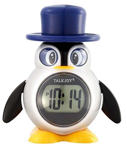 Deutsch Sprechende Kinderuhr Digitale Uhr Tischuhr Zeitansage Sprachfunktion Pinguin Wecker Blindenuhr Uhrzeit lesen Lernen Sprechfunktion Schulwecker