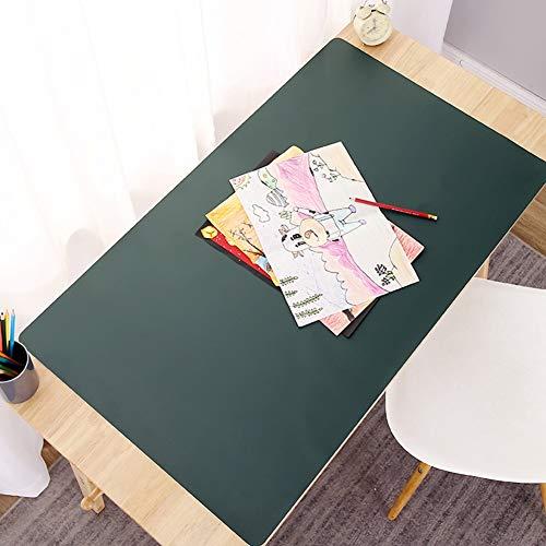 Groot Uitgebreid Kantoor Bureau onderlegger, Waterbestendig Antislip Schrijfmat Zacht Dik Muismat PVC voor Leren Werk Schrijven Huis (Color : Green2, Grootte : 100x50cm(39x20inch))