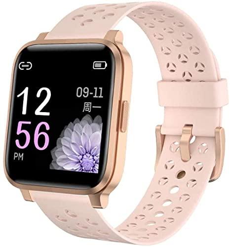 AKY Reloj inteligente 1 3 Color inglés Color IP68 Buceo Deportes Fitness Pulsera inteligente Monitoreo del sueño (Color: verde) (rosa)