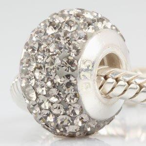 Oostenrijkse kristallen geboortesteen bedels met draad kern 925 sterling zilver kralen past Europese slangketting armband Zwarte Diamant