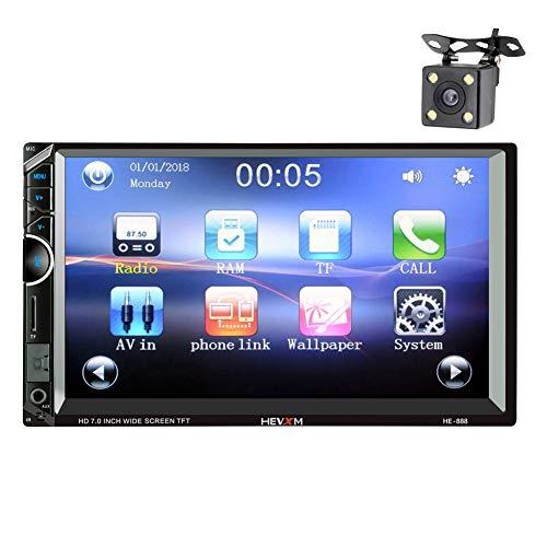 LWTOP Bluetooth Voiture stéréo 7 Pouces HD Tactile écran capacitif 2 DIN in-Dash MP5 amplificateur vidéo Audio avec FM AM RDS Radio/USB/SD/AUX