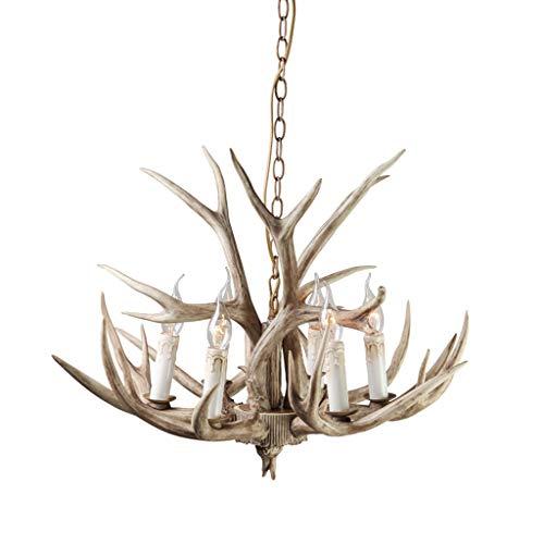 Antlers lustres 8 têtes rétro en fer forgé gras salon bar café restaurant occidental salon espace de loisirs lampe magasin de vêtements Antlers lustres