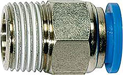 Preisvergleich Produktbild Gerade Steckverschraubung »Blaue Serie«,  R 1 / 4 a,  für Schlauch-Außen-Ø 6 mm,  Arbeitsdruck max. 15 bar,  Kunststoff / Messing vern.