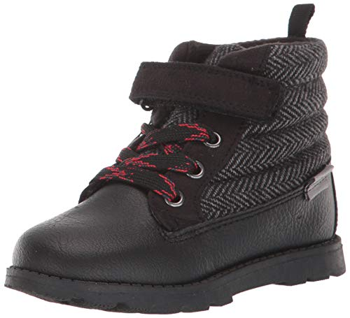 Carter's Boys's COPA Ankle Boot, Black, 9 Toddler