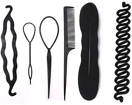 Pelo Moño, cabello diseño Accesorios Hacedor Braid Cabello Trenzado Peinado Clip DIY para las niñas