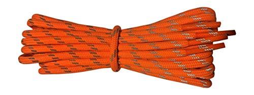 Starke Schnürsenkel für Wanderschuhe - Orange - reflektierender Faden - Länge 140 cm…