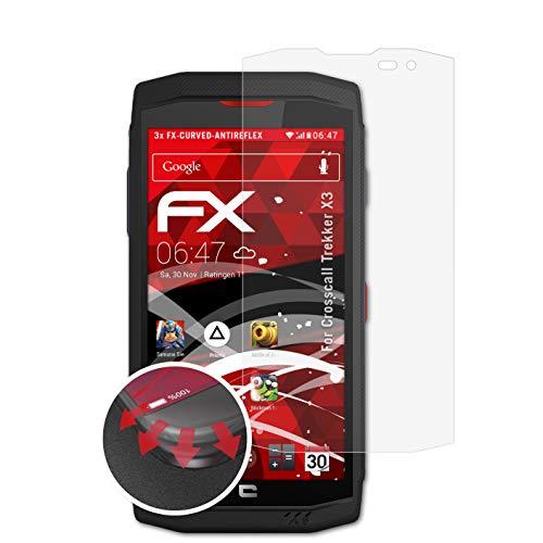 atFolix Schutzfolie kompatibel mit Crosscall Trekker X3 Folie, entspiegelnde & Flexible FX Bildschirmschutzfolie (3X)