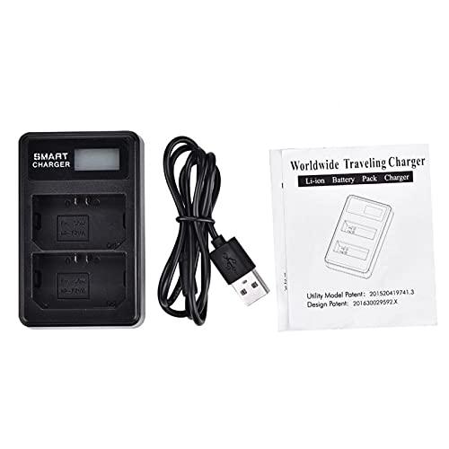 Ruining Cargador Doble, Negro Cargador de batería para cámara, para NP-FZ100 Actividades al Aire Libre Baterías Accesorio Uso al Aire Libre