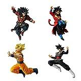 Juego Completo 4 Figures Colección Dragonball Versus DB Super Battle 07 Broly Dark Goku Black Goku S...