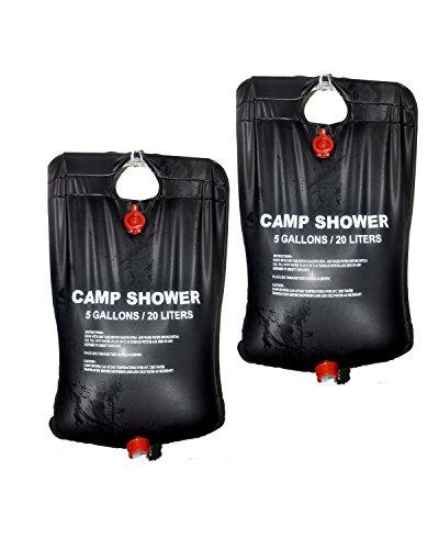 Ideal para uso en exteriores Con capacidad para hasta 20litros (aprox.) No tóxico material de PVC resistente Incluye cabezal de ducha y tubos Perfecto para cualquier aventura al aire libre