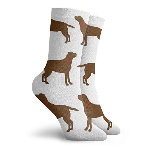 NGMADOIAN Sokken Chocolade Labradors Schilderij Svetlana Novikova Athletic Long Crew Sokken voor mannen vrouwen 11,8 inch (30 cm)