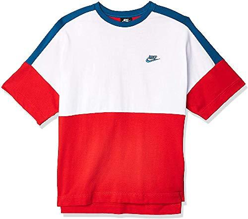NIKE M NSW Top SS JSY CB Camiseta de Manga Corta, Hombre, Medium Olive/Light Bone/Oil Green/ (White), S