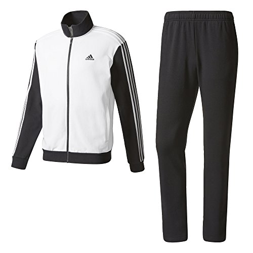 Adidas Herren Trainingsanzug TS Co Relax, Herren S weiß (weiß / schwarz / weiß), 180S