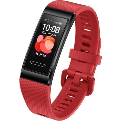 HUAWEI Band 4 Pro - Smart Band Fitness Tracker with 0.95 Inch AMOLED Touchscreen, 24/7 Heart Rate Monitor, Indoor Outdoor Pro Tracking, Sleep Monitor, Built-in GPS, 5ATM Waterproof, ?Canadian Warranty?, (Red)