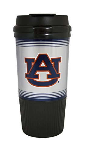 GameDay Novelty NCAA Auburn Tigers Insulated Platinum Gripper Travel Tumbler, 16 oz