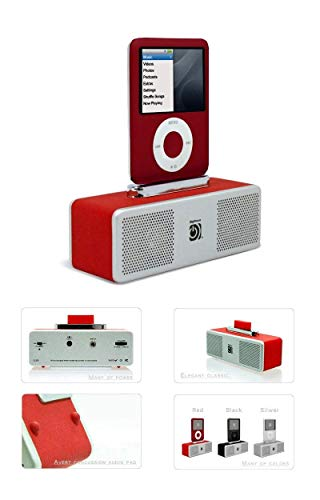 Digifocus Pocket HiFi Mini Station Audio Tragbare für iPod rot