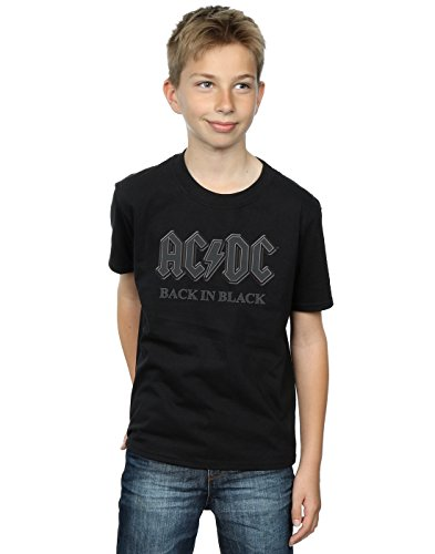 AC/DC Jungen Back In Black T-Shirt 9-11 Years Schwarz