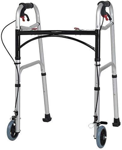 Andadores para discapacidad Andador para Ancianos Sin Ruedas Asiento con Freno de Mano Ajustable Altura Walker Walker Ancianos Rehabilitación Walker