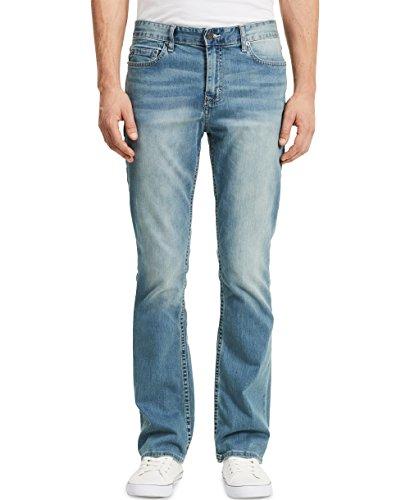 Calvin Klein Men's 32 Inch Inseam Modern Boot Cut Jean, Silver Bullet, 36Wx32L