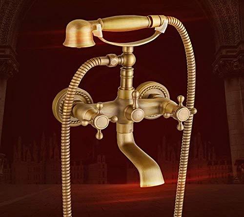 BINGFANG-W Bañera del grifo del mezclador de la ducha del grifo de ducha de latón Reduzca Handshower mezcla de agua caliente y fría ducha de mano de teléfono Ducha
