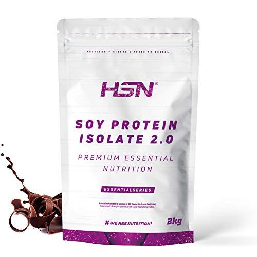 Proteína de Soja Aislada de HSN | Vegan Protein | Proteína Vegana con Stevia | Soy Protein Isolate | Sin Gluten, Sin Colesterol, Sin OMG, Sin Azúcar, Sin Lactosa, Sabor Chocolate, 2 Kg