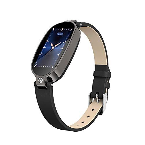 B79 Smart Watch - Reloj pulsómetro y frecuencia cardíaca, para hombre y mujer, presión azul
