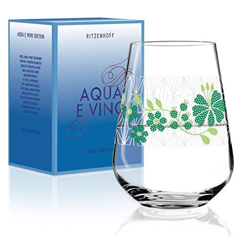 RITZENHOFF Aqua e Vino Wasser- und Weinglas von Burkhard Neie, aus Kristallglas, 540 ml, im modernen Design