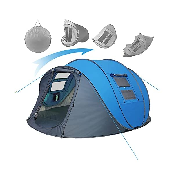 Weanas-Easy-Pop-Up-Tents-Instant-Automatic-4-Person-Family-Camping-Tents-Easy-Quick-Setup-Dome-Popup-Tents-for-Camping-Hiking-and-Traveling-with-Carrying-Bag