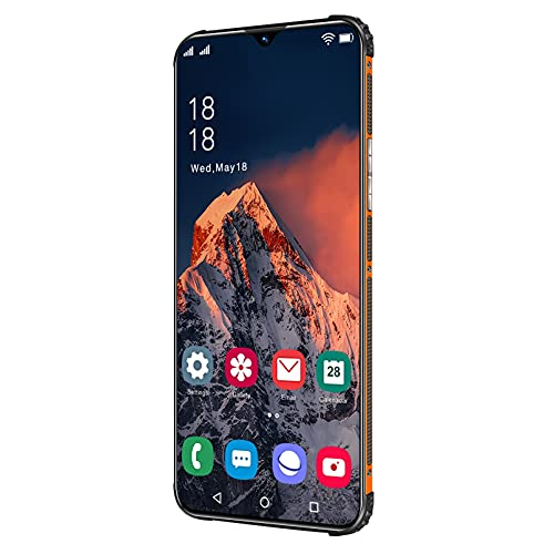 Smartphone, N1 Pro Rugged Free Mobile, 4GB + 64GB (SD 128GB), Cámara de 50MP, Cámara Frontal de 32MP, Teléfono móvil a Prueba de Golpes de 6800mAh, Teléfono Android 11 7.0inch HD + Pantalla 5G, GPS