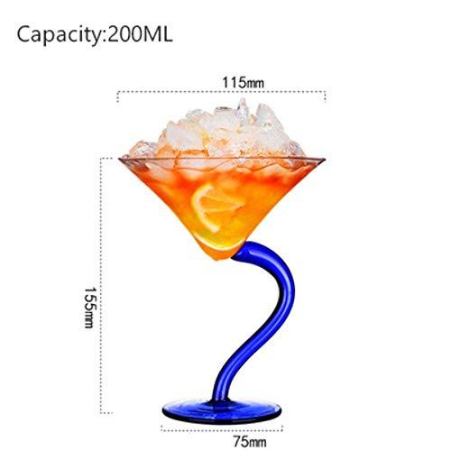 Cocktail bierglas Transparant Glas Sap Wijn Champagne Glasdrinkbeker Crystal Bar Barman Cup, NO1 lili (Color : No9)