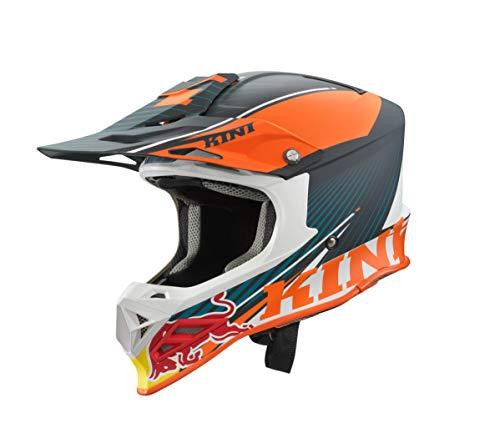 Kini Red Bull Competition Helm V2.0 Orange/Weiss/Grau (XXL/64-65)