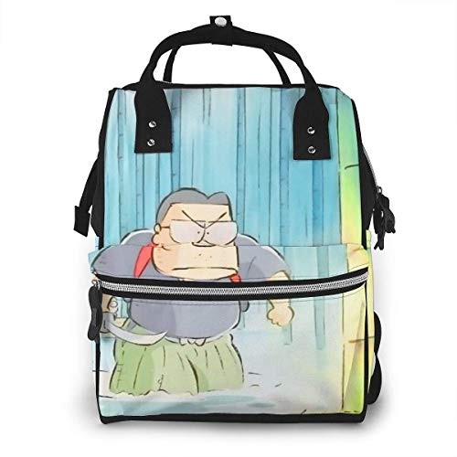 JUKIL Mochila de pañales My Neighbors Yamadas Diaper Bag Backpack Large Capacity Maternity Baby Nappy Bags Care for Travel Multi-Function Fashion Insulated Mummy Backpack