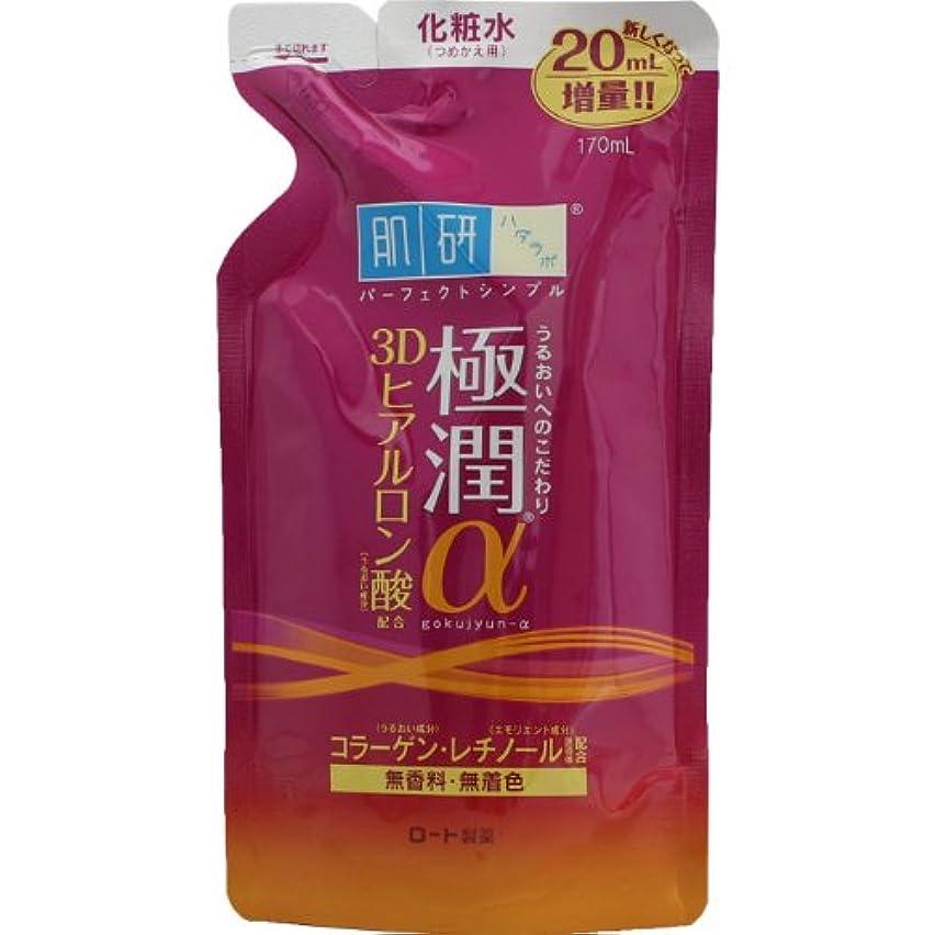 礼儀地球後方に肌研(ハダラボ) 極潤 α化粧水 (つめかえ用) 170mL